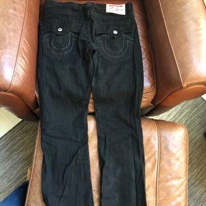 Men's True Religion Black Straight Leg Jeans